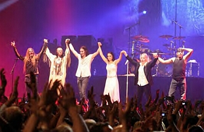 Nightwish, at the final show in Helsinki: October 2005